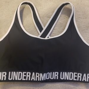 Under Armour Black and White Sports Bra